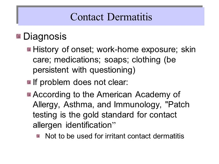 Diagnosis of Contact Allergy