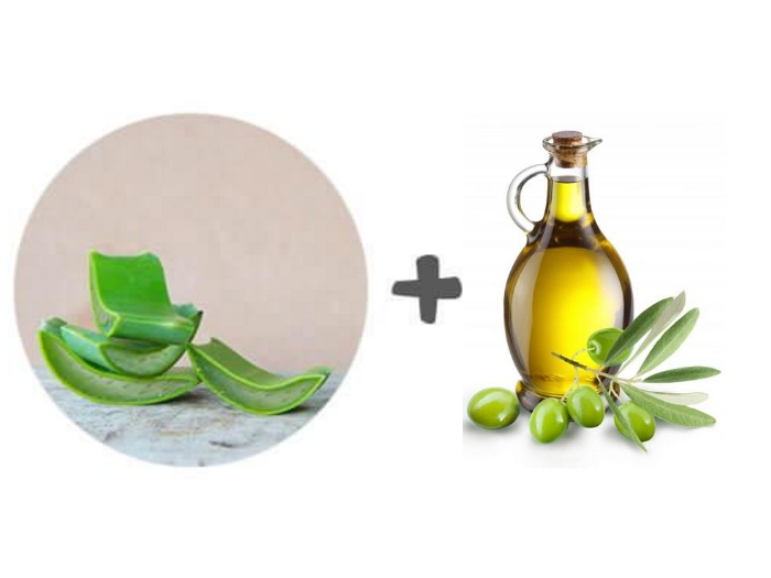 Aloe Vera Gel and Jojoba Oil